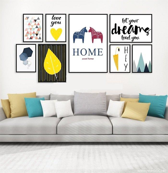 Bộ 8 tranh treo tường lá nghệ thuật