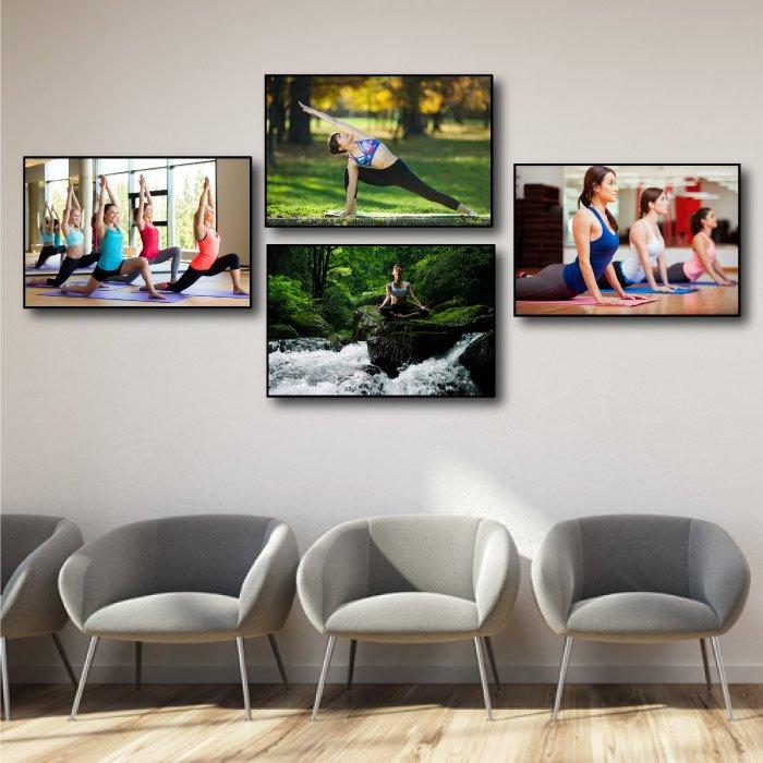 Tranh treo tường yoga