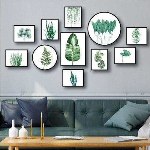Bộ tranh treo tường lá xanh 2
