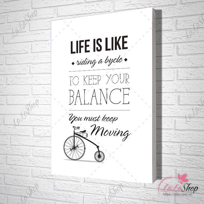 Tranh treo tường to keep your balance