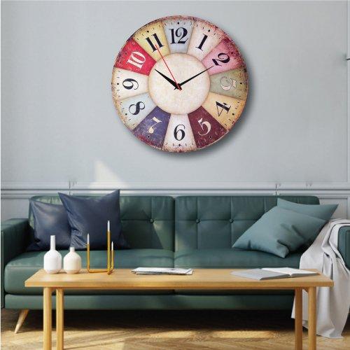 Đồng hồ treo tường vintage sắc màu cổ điển