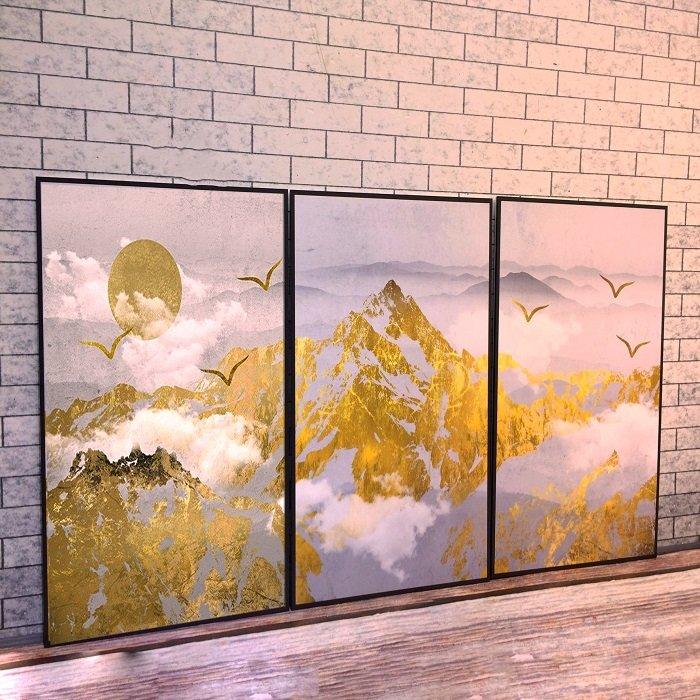 Tranh treo tường hùng vĩ kim sơn (HG)