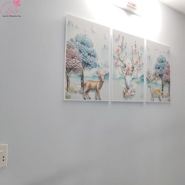 Tranh treo tường hươu nghệ thuật