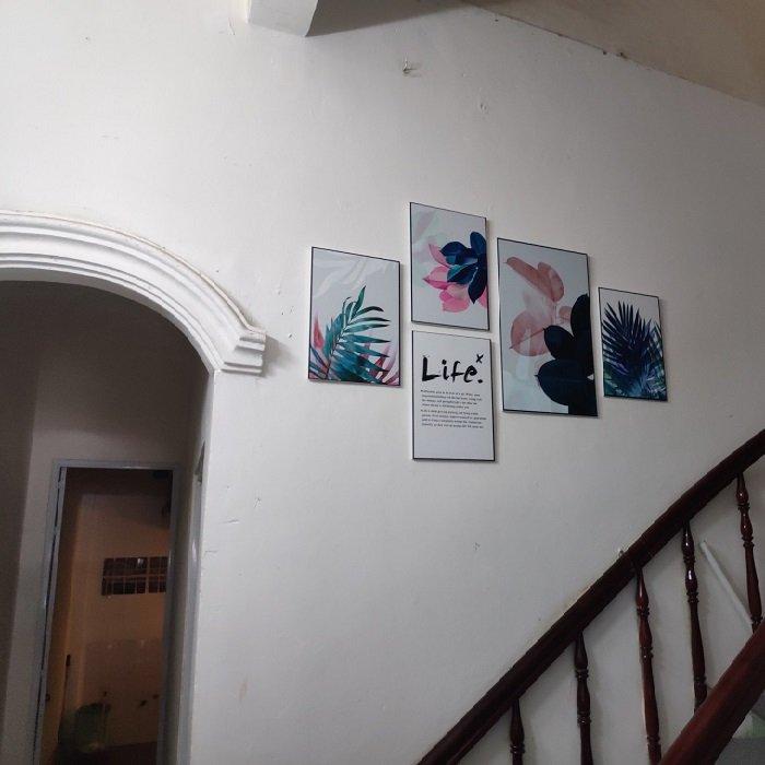 Tranh treo tường lá nghệ thuật cách điệu (HG)