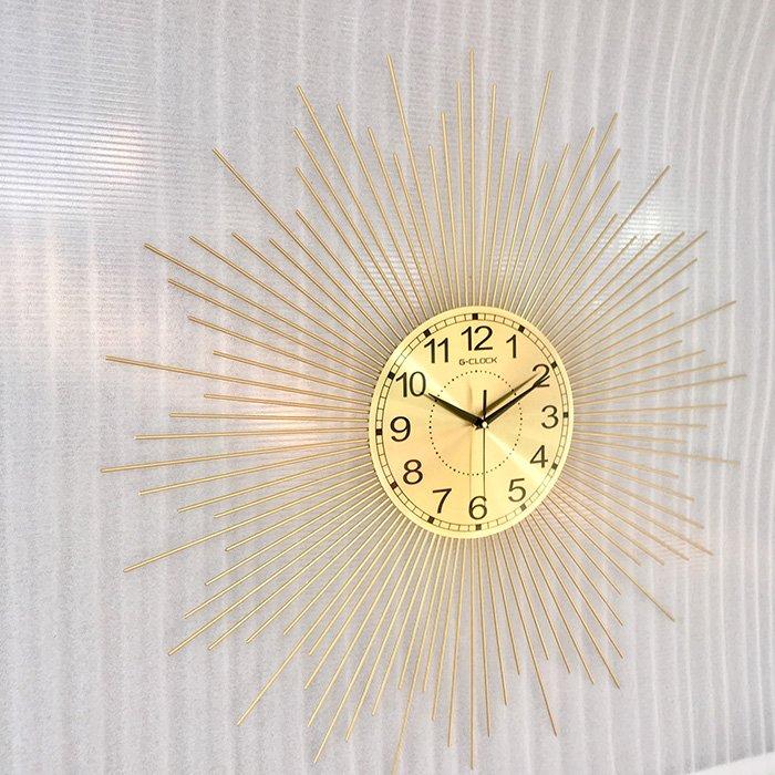 Đồng hồ treo tường đính đá tia nắng mặt trời 2