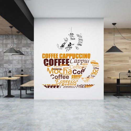 Decal Dán Tường Coffee Cappucino 2