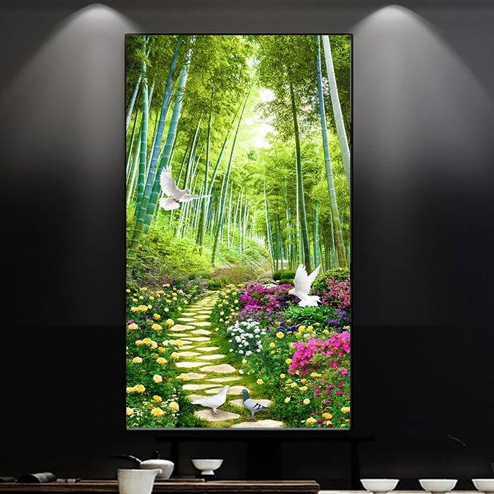 Tranh dán tường con đường hoa 2