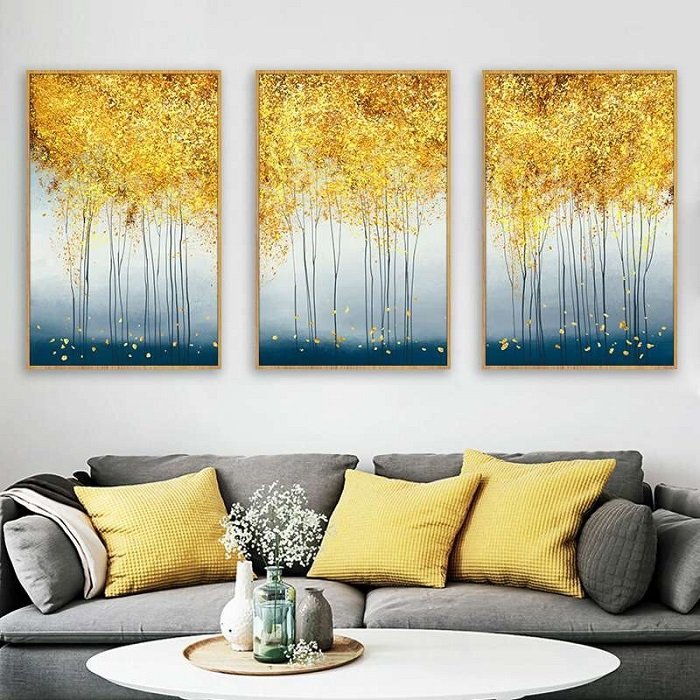 Tranh treo tường rừng lá vàng
