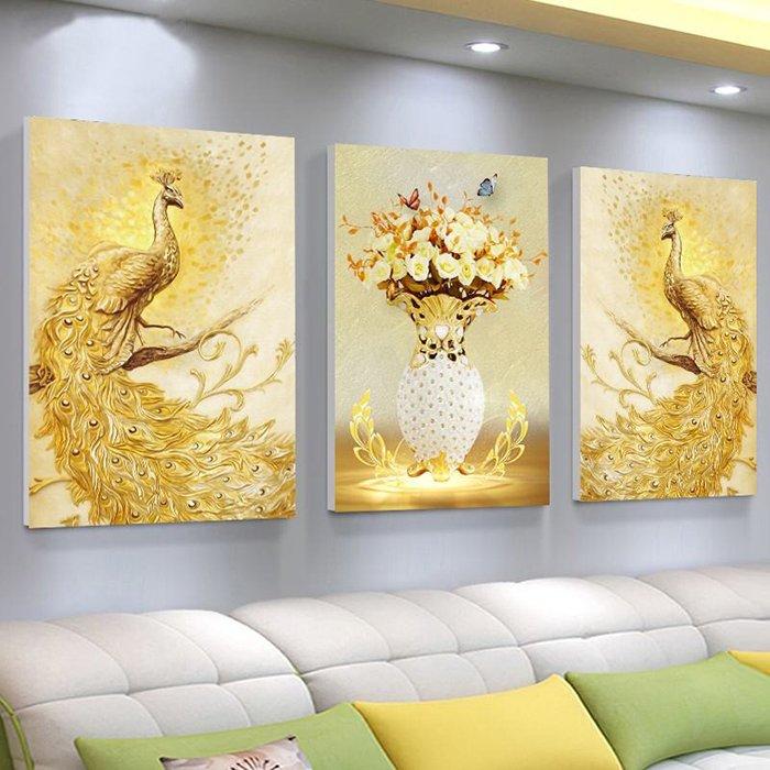 Tranh treo tường đôi công hoàng kim mang lại bình an, tài lộc, thịnh vượng