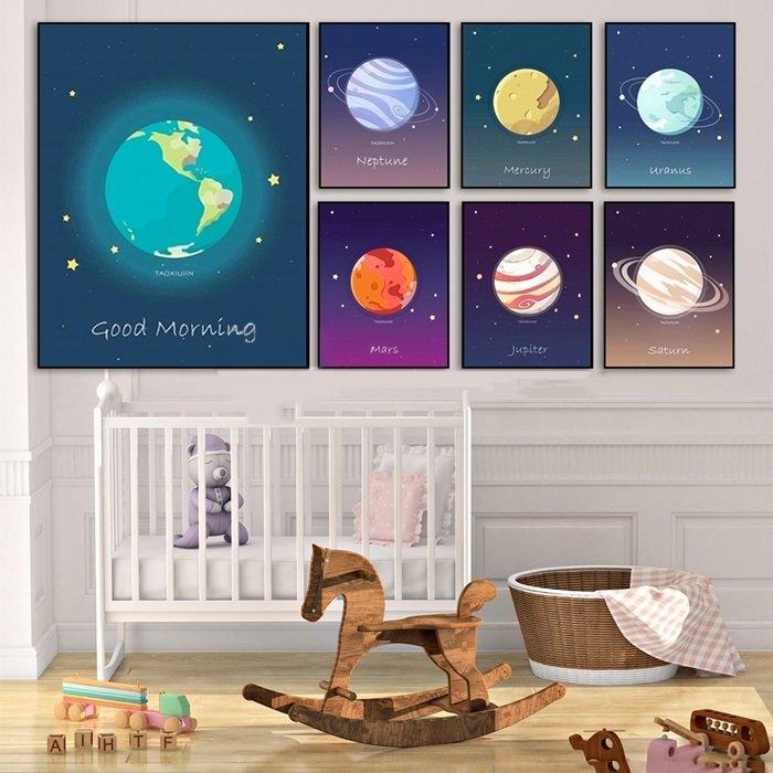 Tranh treo tường 7 hành tinh