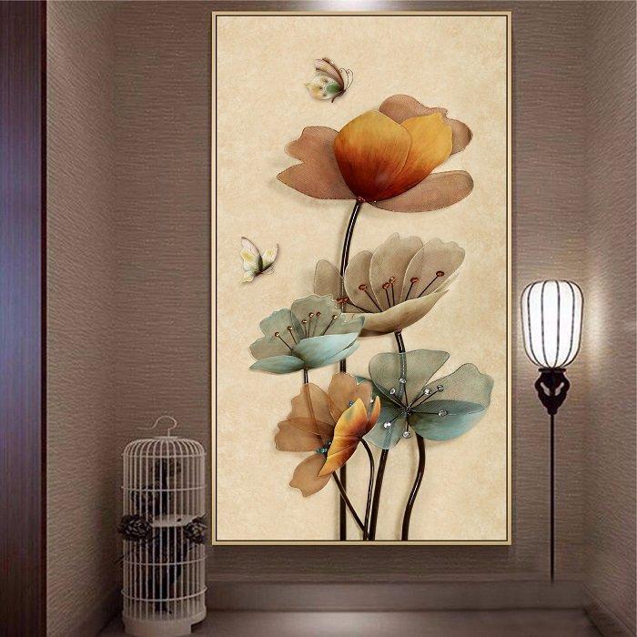 Tranh treo tường cánh hoa trang đài