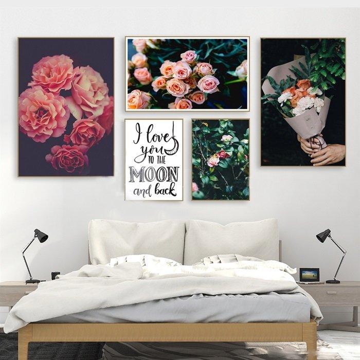 Tranh treo tường hoa hồng nhung (HG)