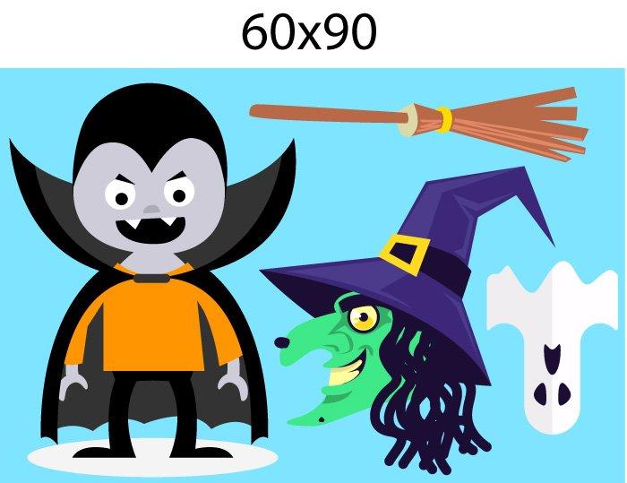 Decal trang trí halloween rùng rợn combo 1