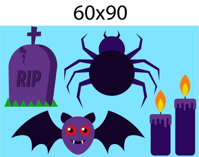 Decal Trang Trí Halloween Rùng Rợn Combo 2