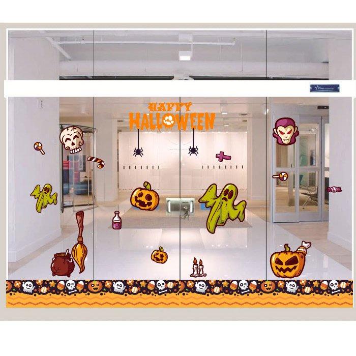 Decal Trang Trí Halloween Rùng Rợn Combo 3