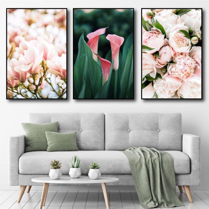 Tranh treo tường các loại hoa 3
