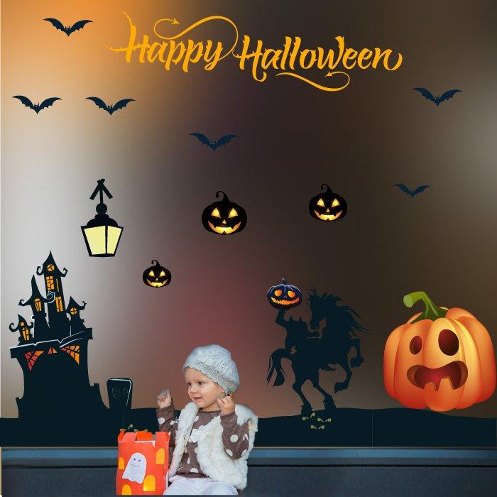 Decal Trang Trí Halloween Rùng Rợn Combo 13