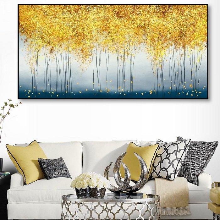 Tranh treo tường rừng lá vàng 2