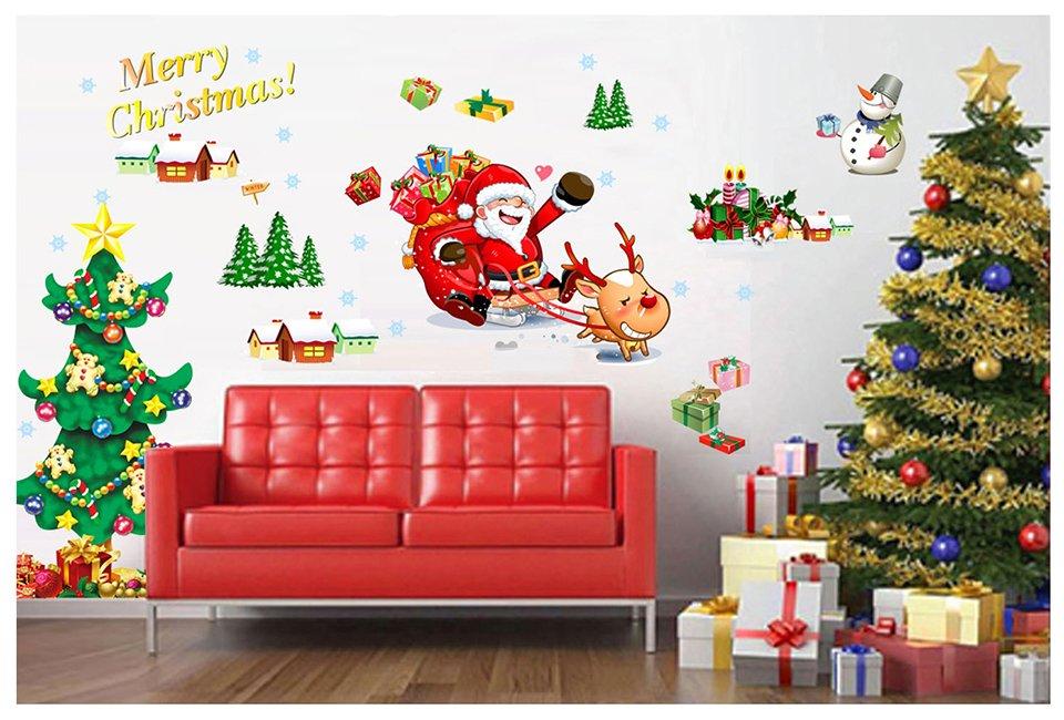 Decal trang trí Noel dán tường