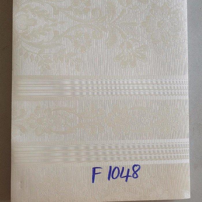 Giấy decal cuộn hoa văn cổ điển màu trắng kem khổ 1m2