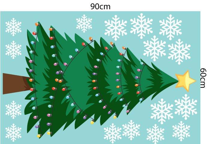Decal trang trí Noel combo tiếng chuông đêm giáng sinh
