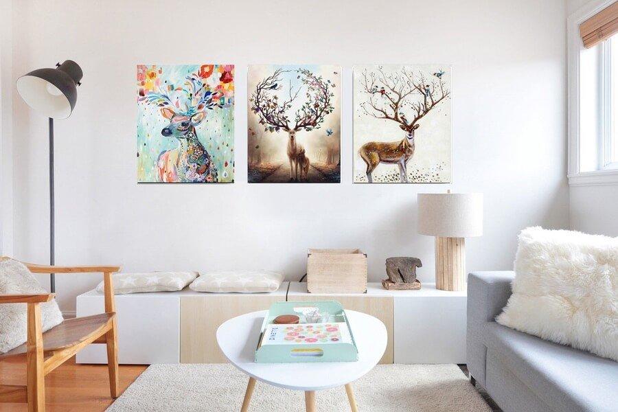 Tranh treo tường Canvas sang trọng, hiện đại