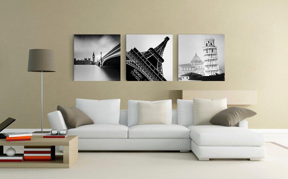Xu hướng trang trí nhà đơn giản bằng tranh Canvas từ chất liệu vải Canvas cao cấp