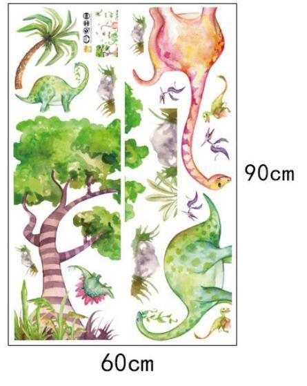 Decal dán tường thế giới khủng long
