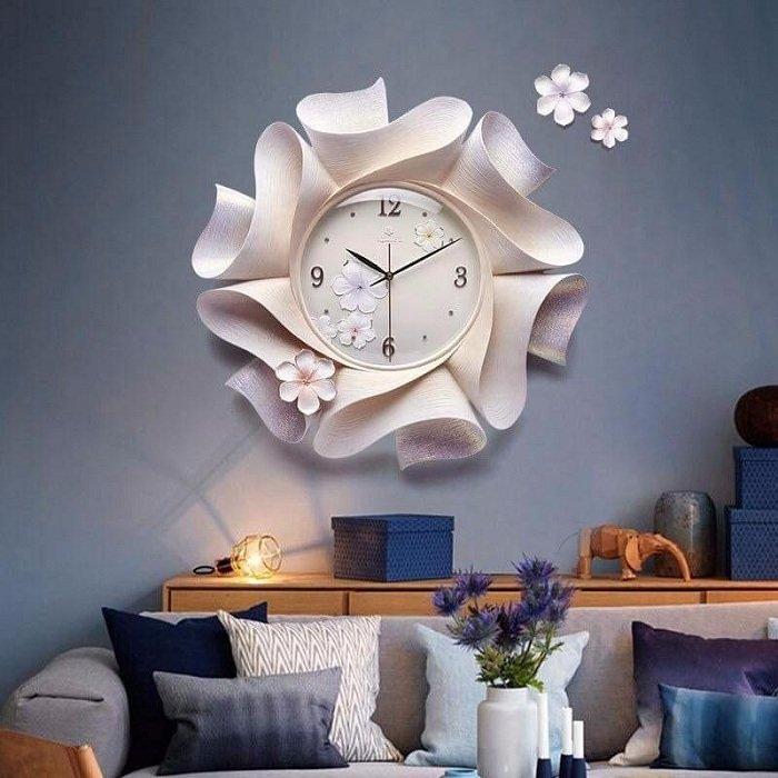 Đồng hồ đính đá hoa sứ hồng