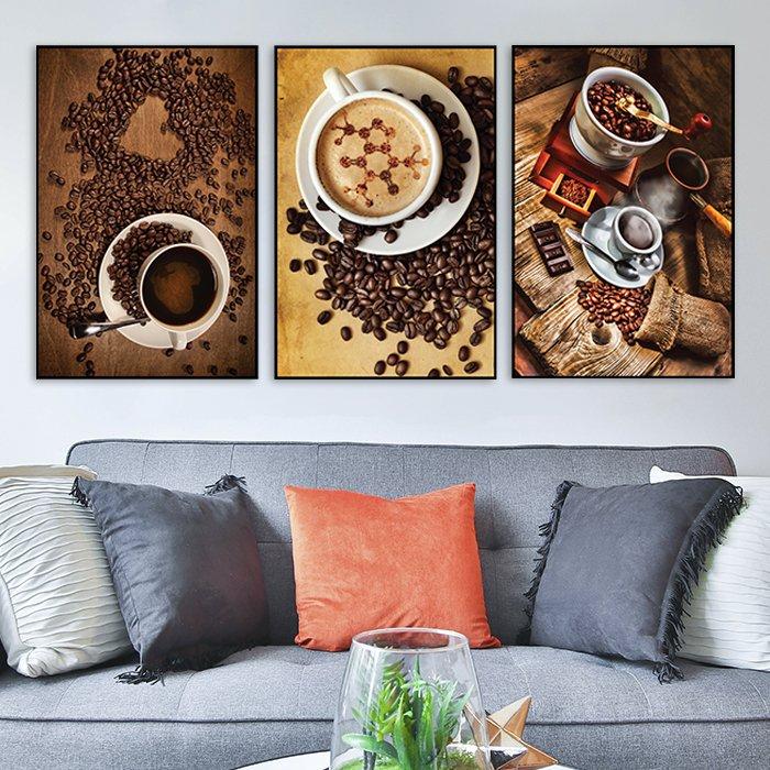 Tranh treo tường hạt coffe