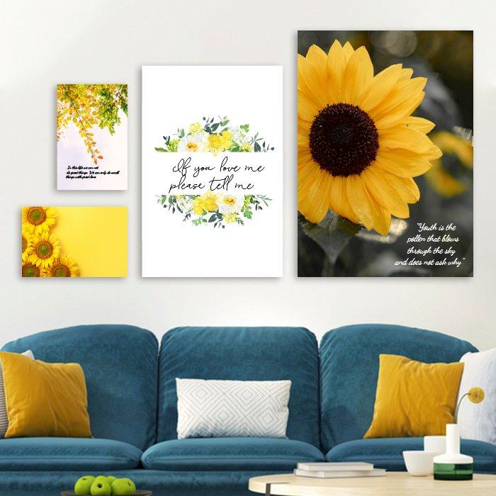 Bộ tranh treo tường hoa hướng dương
