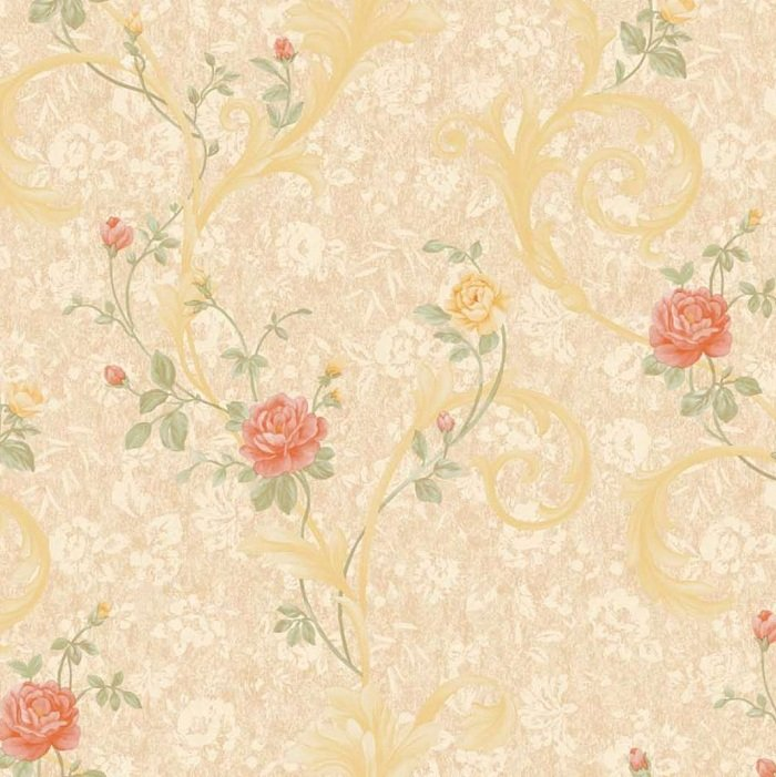 Giấy dán tường hoa hồng GHQ51009