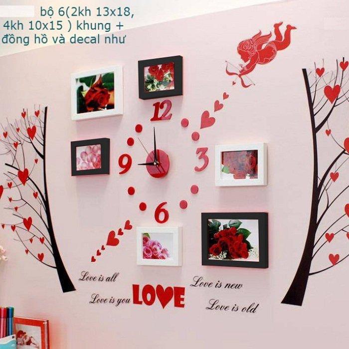 Khung ảnh bộ 6 khung cây trái tim KA051