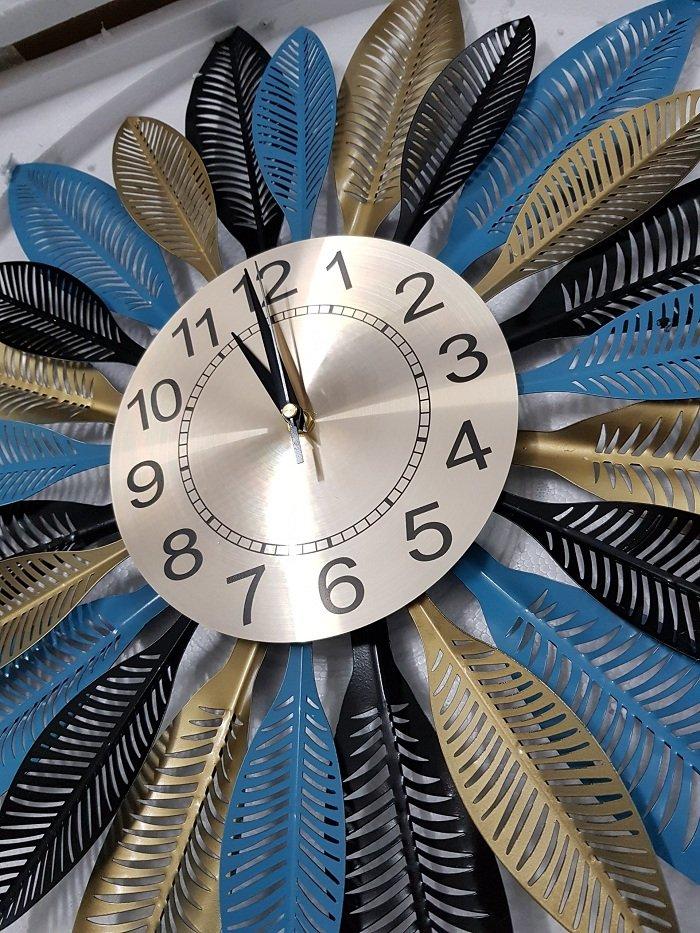 Đồng hồ treo tường đính đá Bông hoa 4