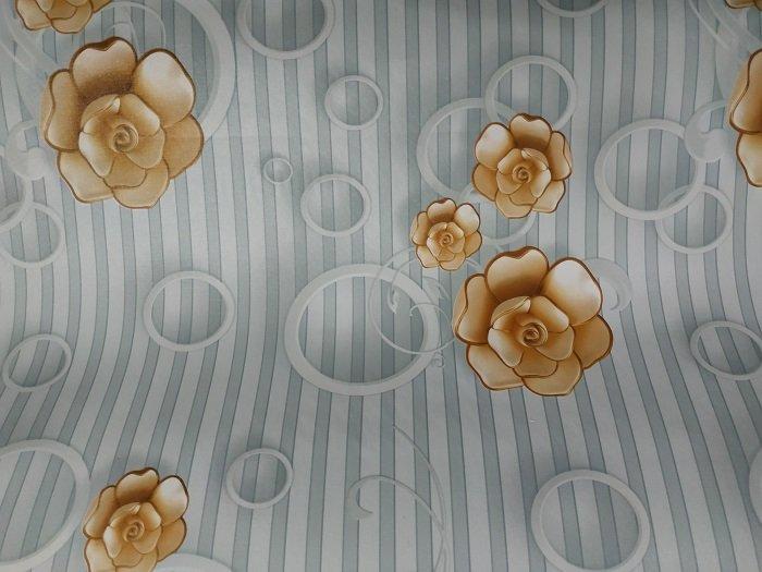 Giấy Decal cuộn họa tiết hoa vàng khổ 0.9m