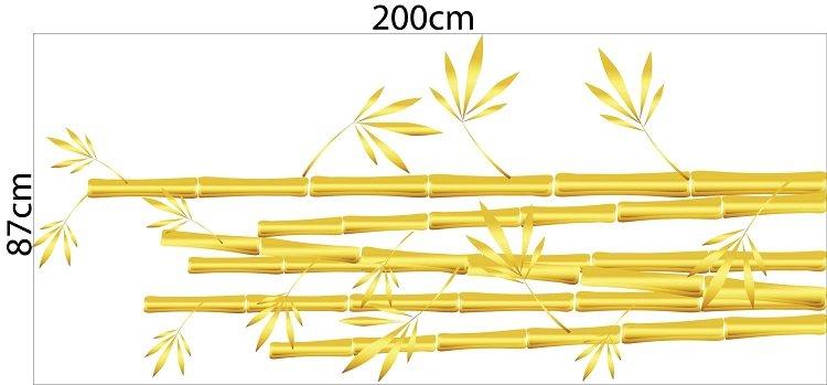 decal trang trí tết bụi tre vàng