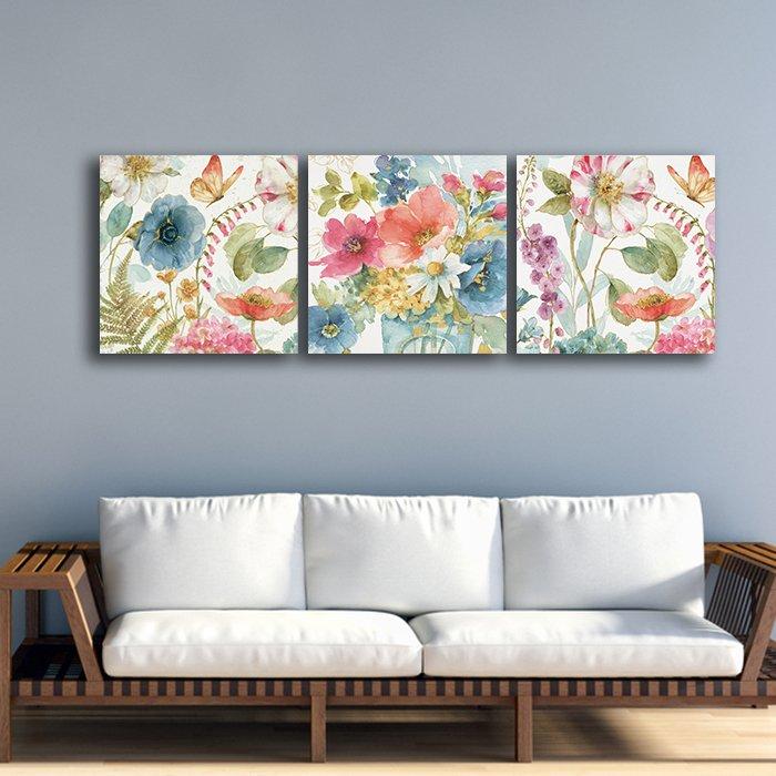 Tranh treo tường hoa sắc màu