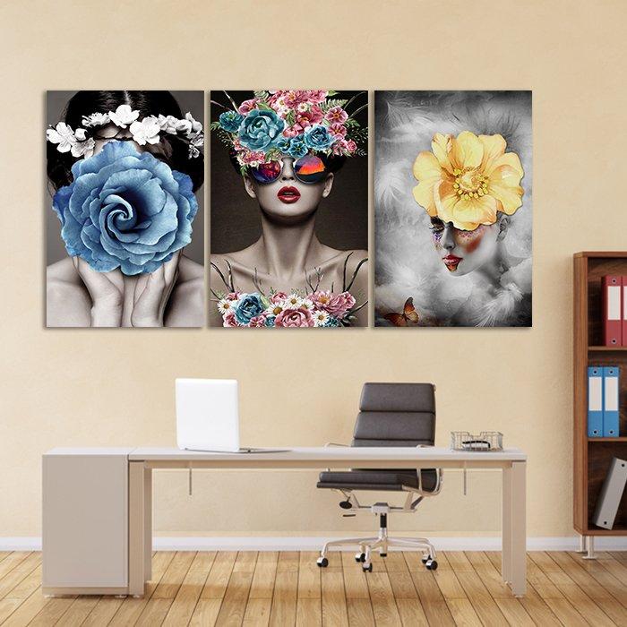 tranh treo tường những cô gái hoa