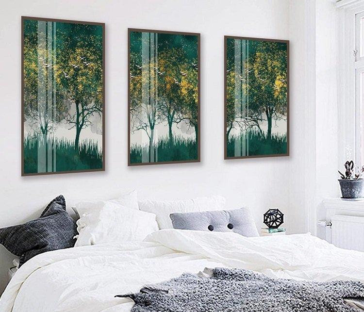 Tranh treo tường cánh rừng xanh