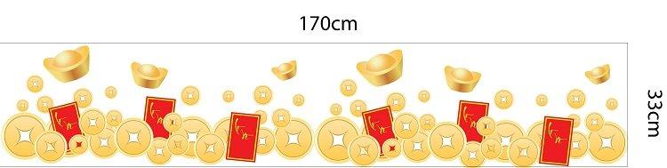 Decal dán chân tường tiền vàng 4