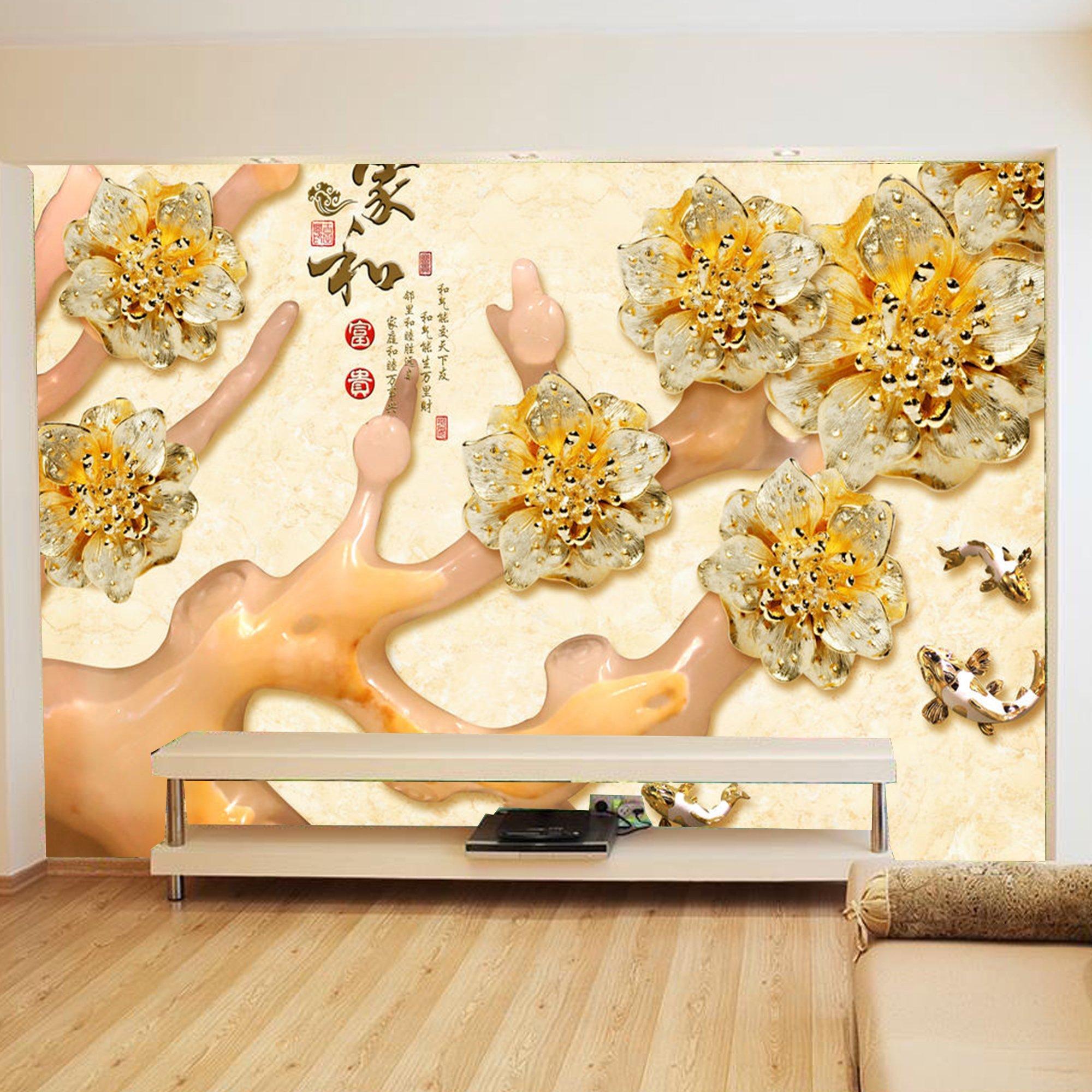 Tranh dán tường hoa sứ 3D