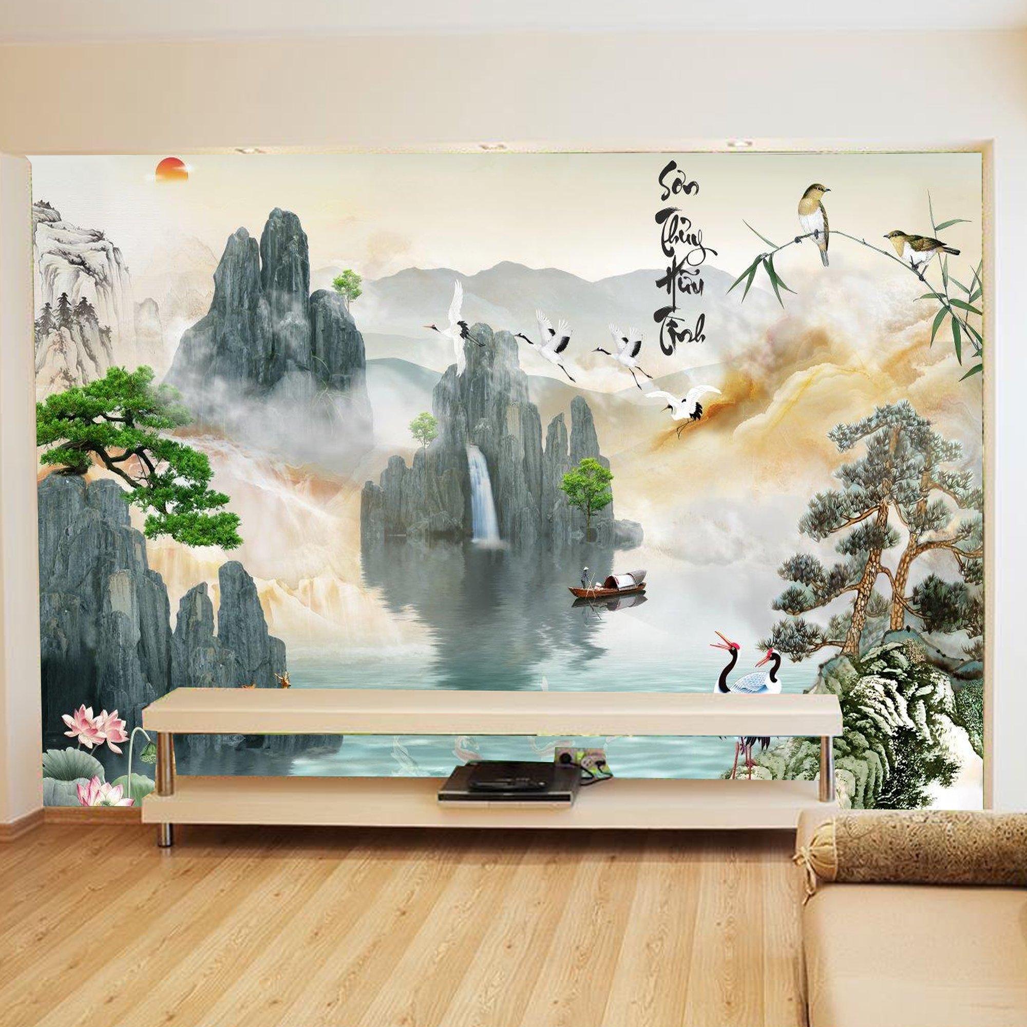 Tranh dán tường sơn thủy hữu tình