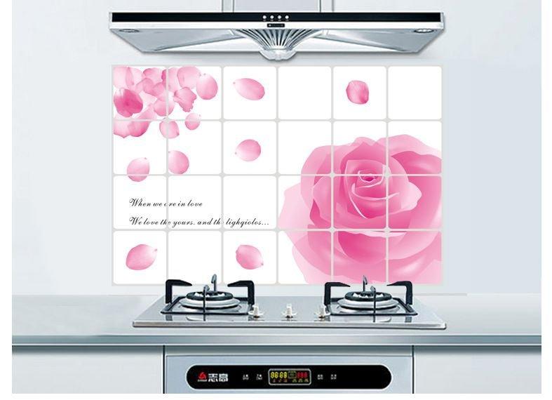 Dán bếp hoa hồng 2 size 60x90cm