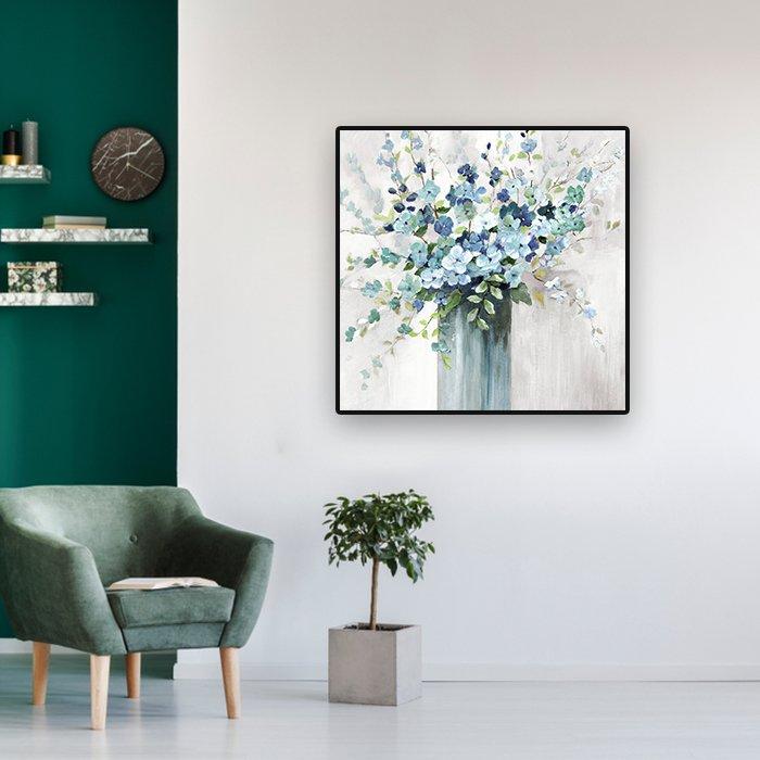 tranh treo tường lọ hoa xanh