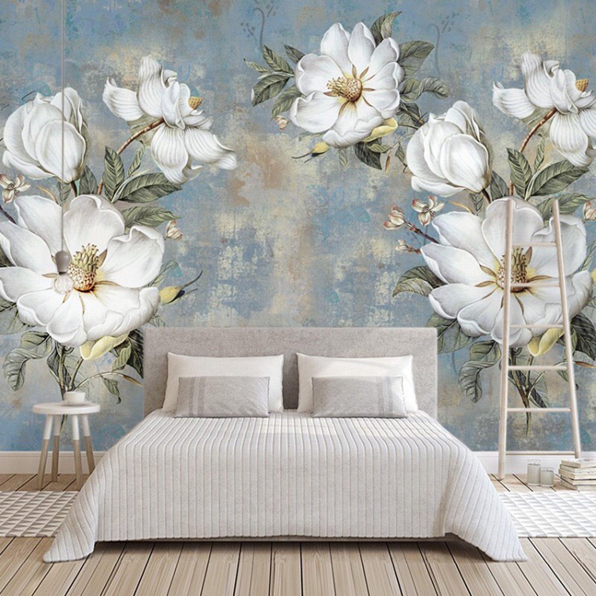 Tranh dán tường hoa cúc trắng