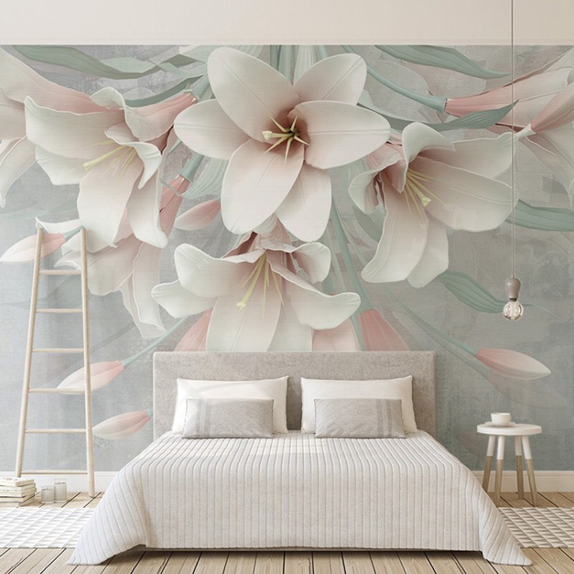 Tranh dán tường hoa ly