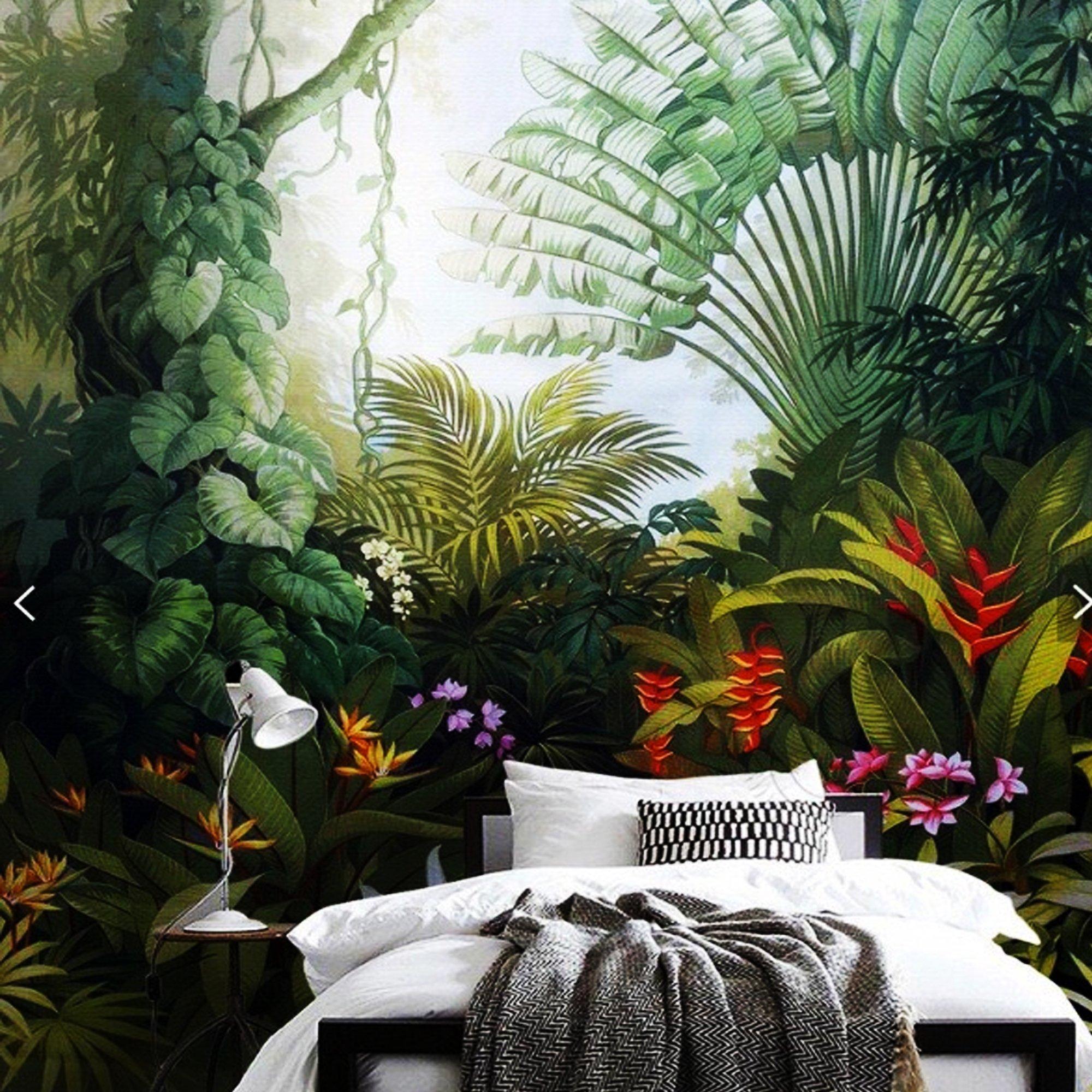 Tranh dán tường rừng nhiệt đới