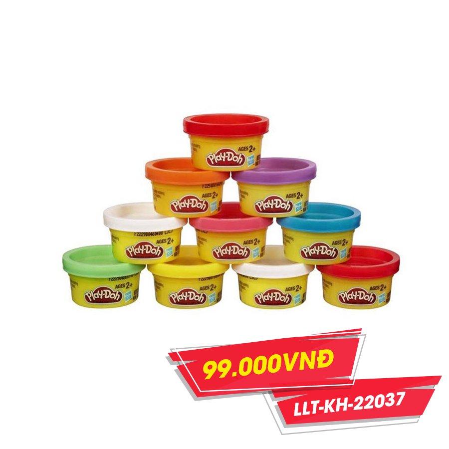 Bộ đồ chơi ống đất nặn 10 màu PLAY-DOH(TN)