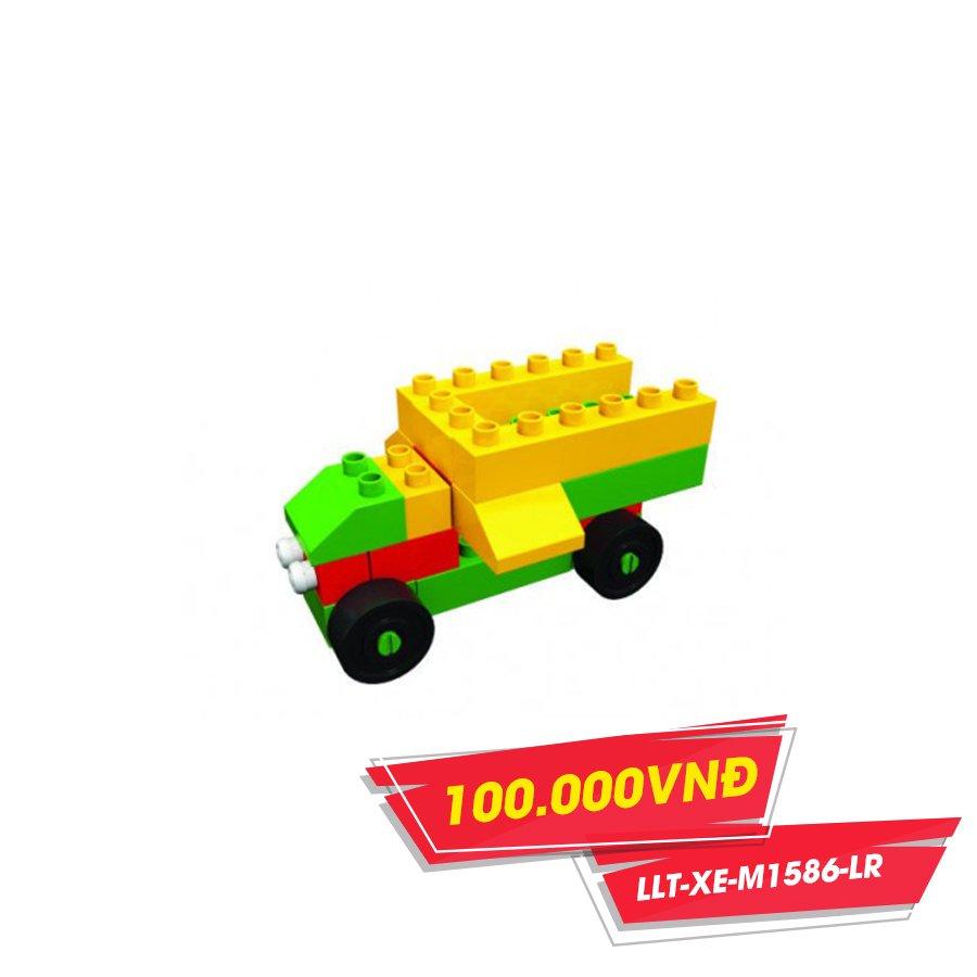 Xe cần cẩu gỗ chứa xếp hình M1586-LR(NCL)