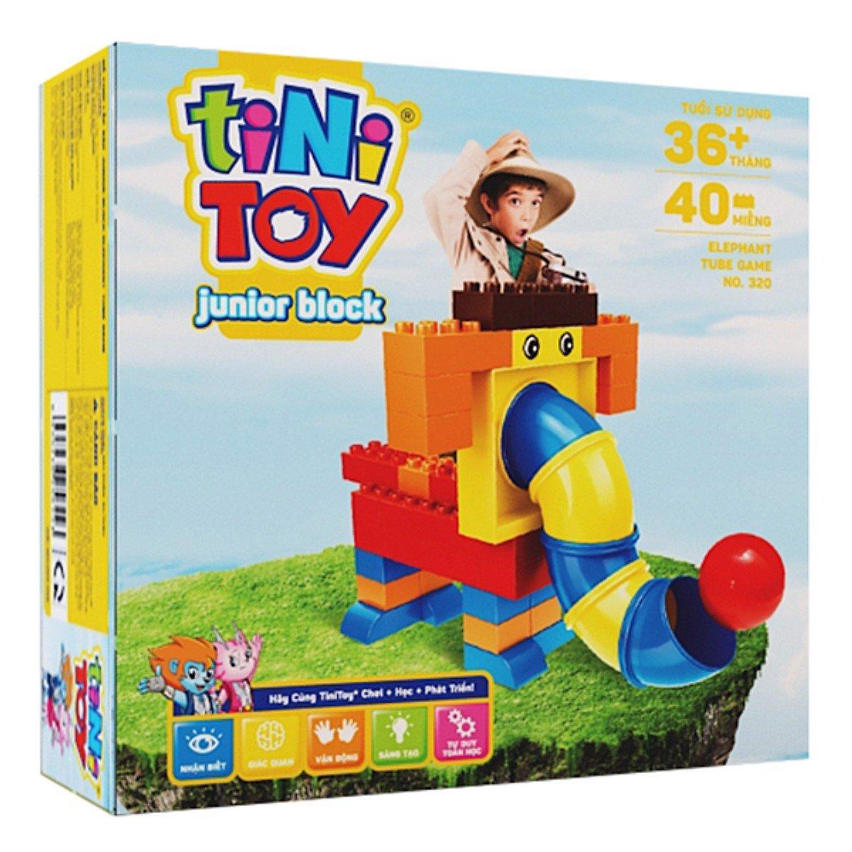 Đồ chơi lắp ráp Junior Block Elephant TubeGame (TN)